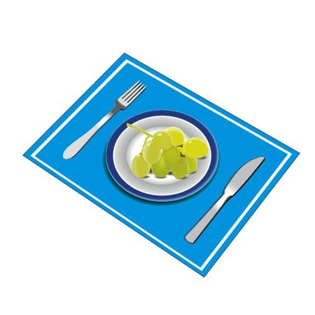 Knife plate and fork with grapes Vector