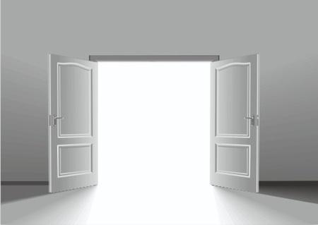 metafoor: deur Stock Illustratie