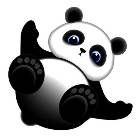 one panda: panda