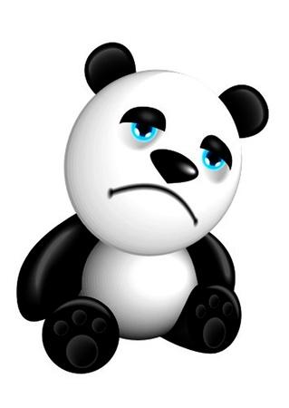 childishness: panda sad
