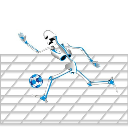 robot_football_player Vector
