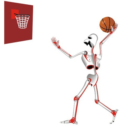 robot_the_basketball_player Vector