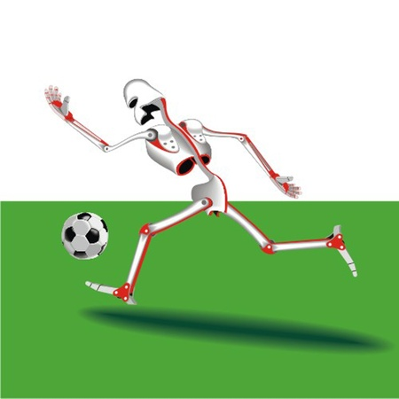 robot_the_football_player Vector