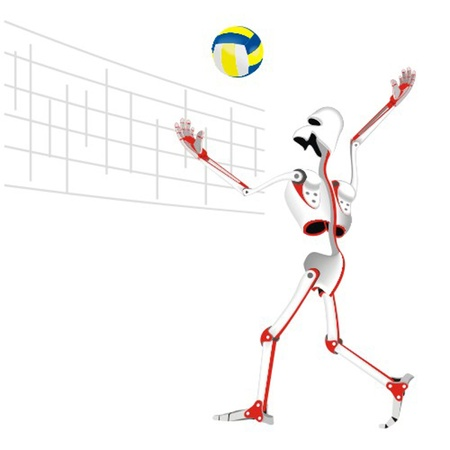 robot_the_voleyball_player Vector