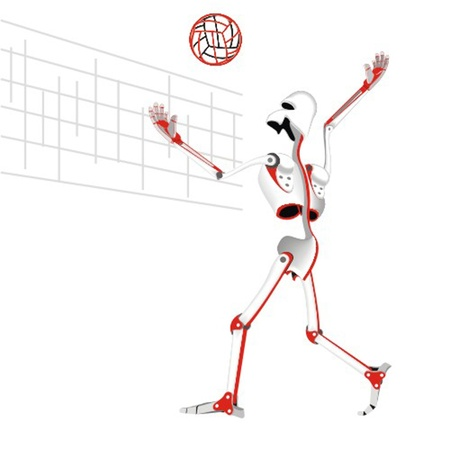 robot_voleyball_player Vector