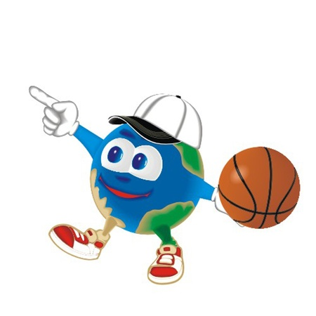 Planet_with_basketball_ball Vector