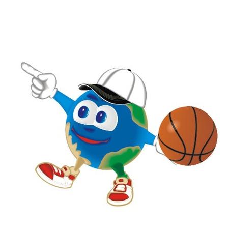Planet_with_basketball_ball Vector