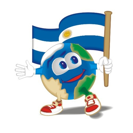 Planet_with_flag_Argentina Vector