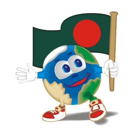Planet_with_flag_Bangladesh Vector