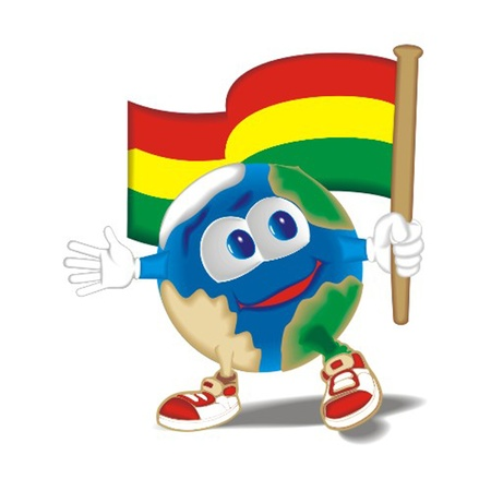 Planet_with_flag_Bolivia Stock Vector - 13438409