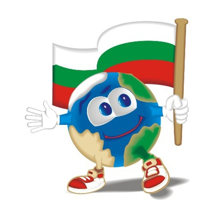 Planet_with_flag_Bulgaria Vector