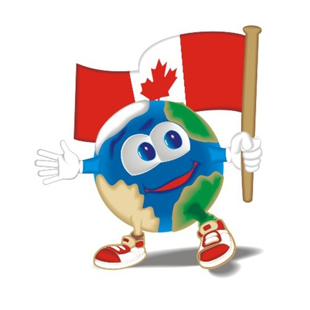 Planet_with_flag_Canada Vector