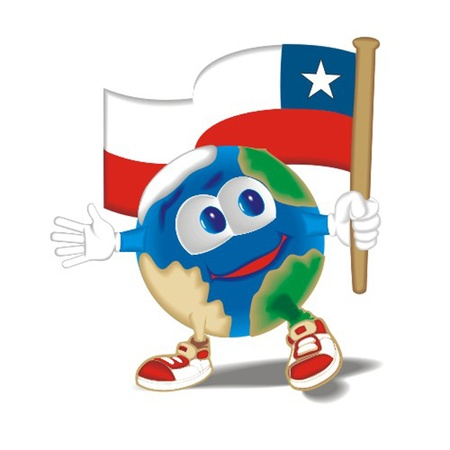 Planet_with_flag_Chile Stock Vector - 13438382