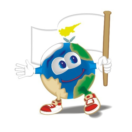 Planet_with_flag_Cyprus Vector