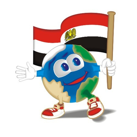 Planet_with_flag_Egypt Vector
