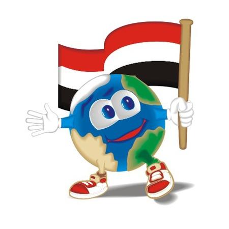 Planet_with_flag_Jemen Vector