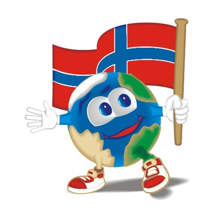 Planet_with_flag_Norway Vector