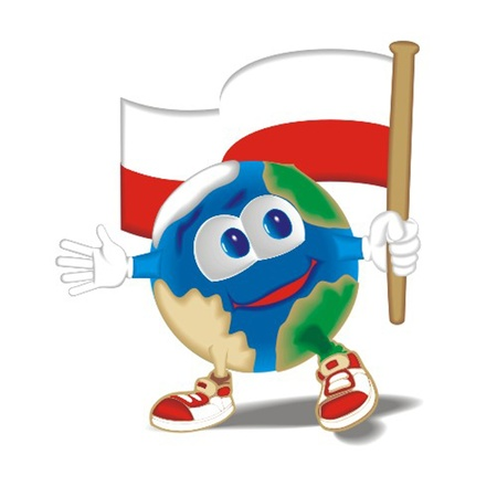 Planet_with_flag_Poland Stock Vector - 13438376