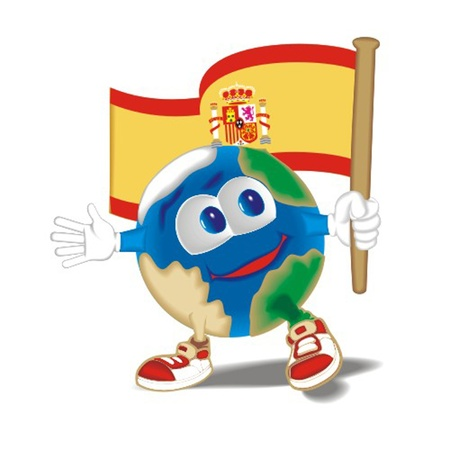 Planet_with_flag_Spain Stock Vector - 13438468