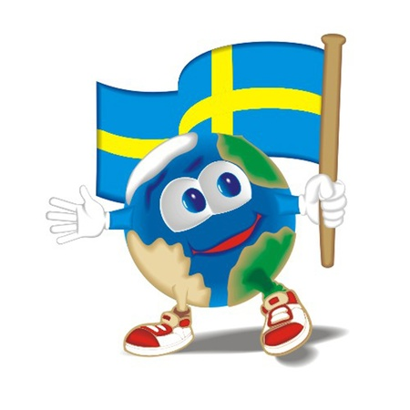 Planet_with_flag_Sweden Stock Vector - 13438393