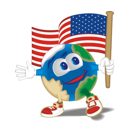 Planet_with_flag_USA Stock Vector - 13438451