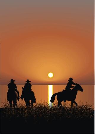 cowboys Stock Vector - 13438527