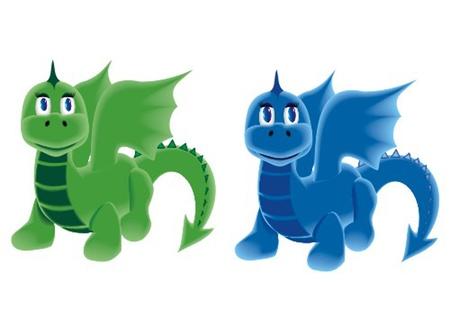 dragons_on_four_legs Stock Vector - 13438207