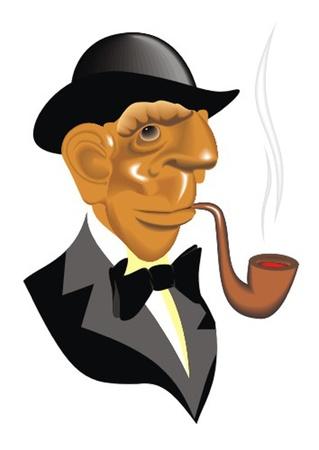 gentleman_smoke_pipe Stock Vector - 13438001