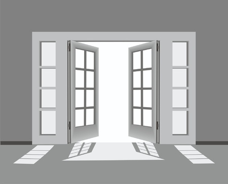 door and window Stock Vector - 13438178