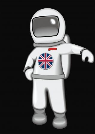 astronaut Britan Stock Vector - 17365218