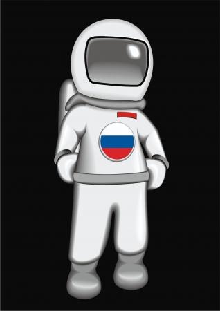 astronaut Russian Stock Vector - 17365198