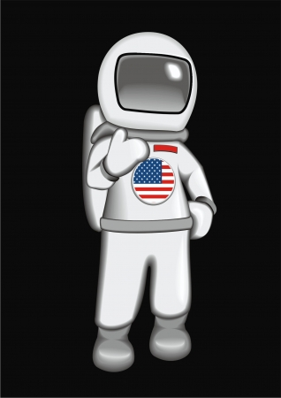 astronaut USA Vector