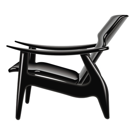 patio furniture: black chair