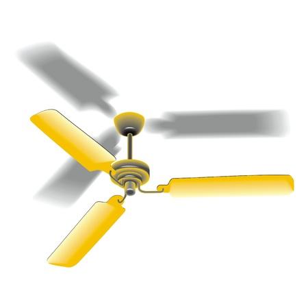 ventilador del techo Ilustración de vector
