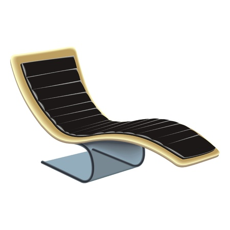 lawn chair: chair Illustration