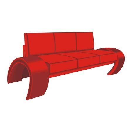 divan: div�n rojo Vectores