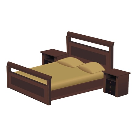 Double bed Vector
