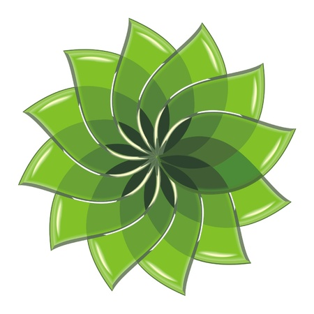 green glass leaves Stock Vector - 17365224
