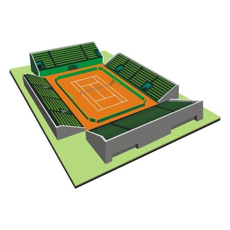 tennis court Stock Vector - 17365231