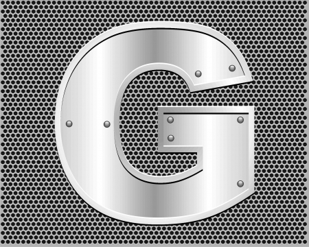 metal letter G Stock Vector - 19796553