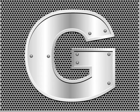 metal letter G Stock Vector - 19796553