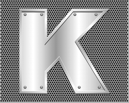 metal letter K Vector