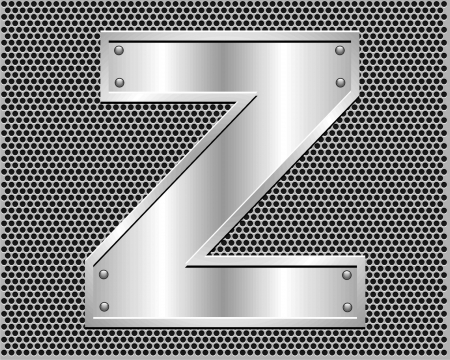 metal letter Z Stock Vector - 19796500