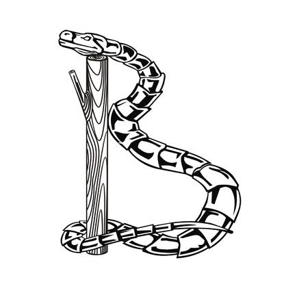 Letter snake B Stock Vector - 19876832
