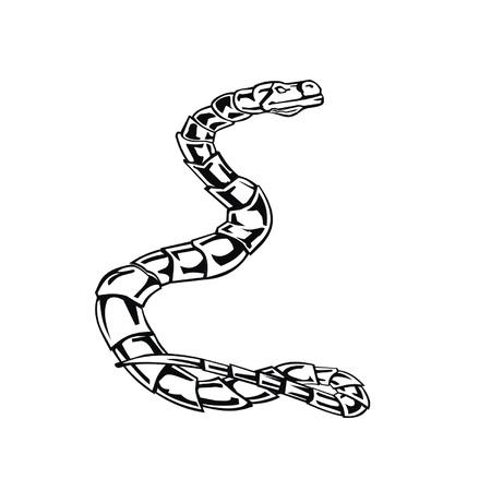 Letter snake E Stock Vector - 19876784