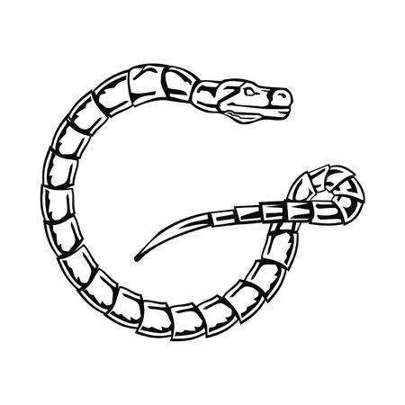 Letter snake G Vector
