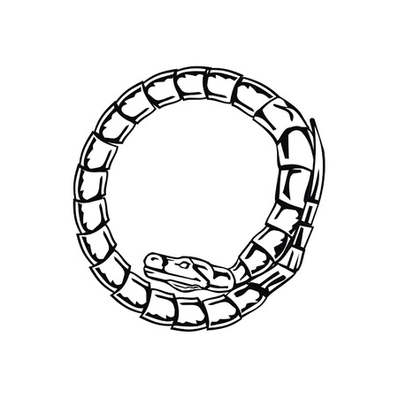 Letter snake O Stock Vector - 19876777
