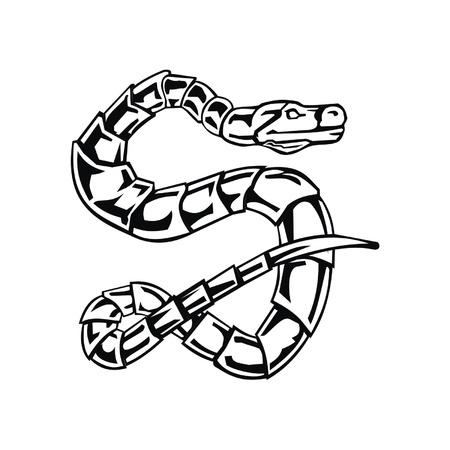 Letter snake S Vector