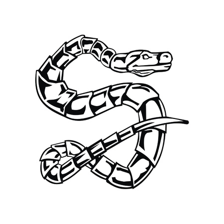 Letter snake S