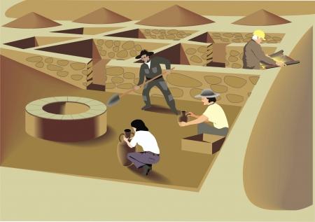 archaeological: Las excavaciones arqueol�gicas